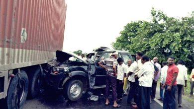 Photo of Hansraj Ahir Former Union Minister's convoy Rams the Truck killing two