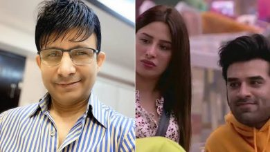 Photo of Kamaal R Khan comments on Mahira Sharma, Calls 'Battakh ke hoton wali Chipkali Sharma'