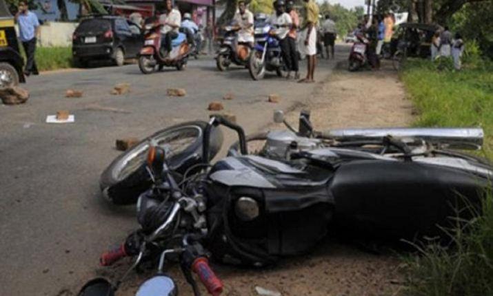 Bike Accident At Nagpur