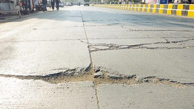 Photo of Cracks in Cement Roads Raises Concern among the Nagpuris