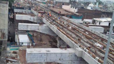 Photo of Metro tracks from Sitabuldi to Prajapati Nagar Kicked off