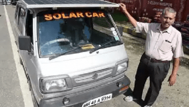 Photo of City Man Converts his Maruti Van into a Solar Vehicle